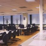 Sala de trabalho e balcão